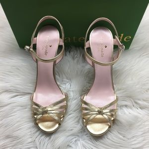 Kate Spade Gold Heeled Sandals 9M